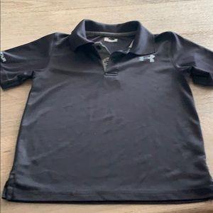 Black Under Armour heat gear polo shirt